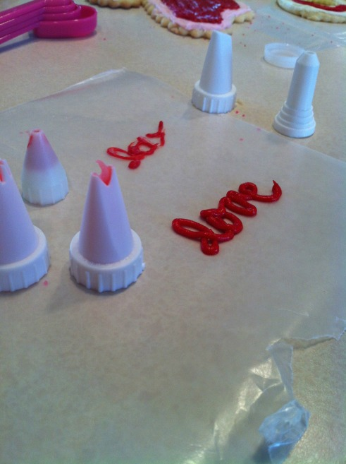 Writing with Icing